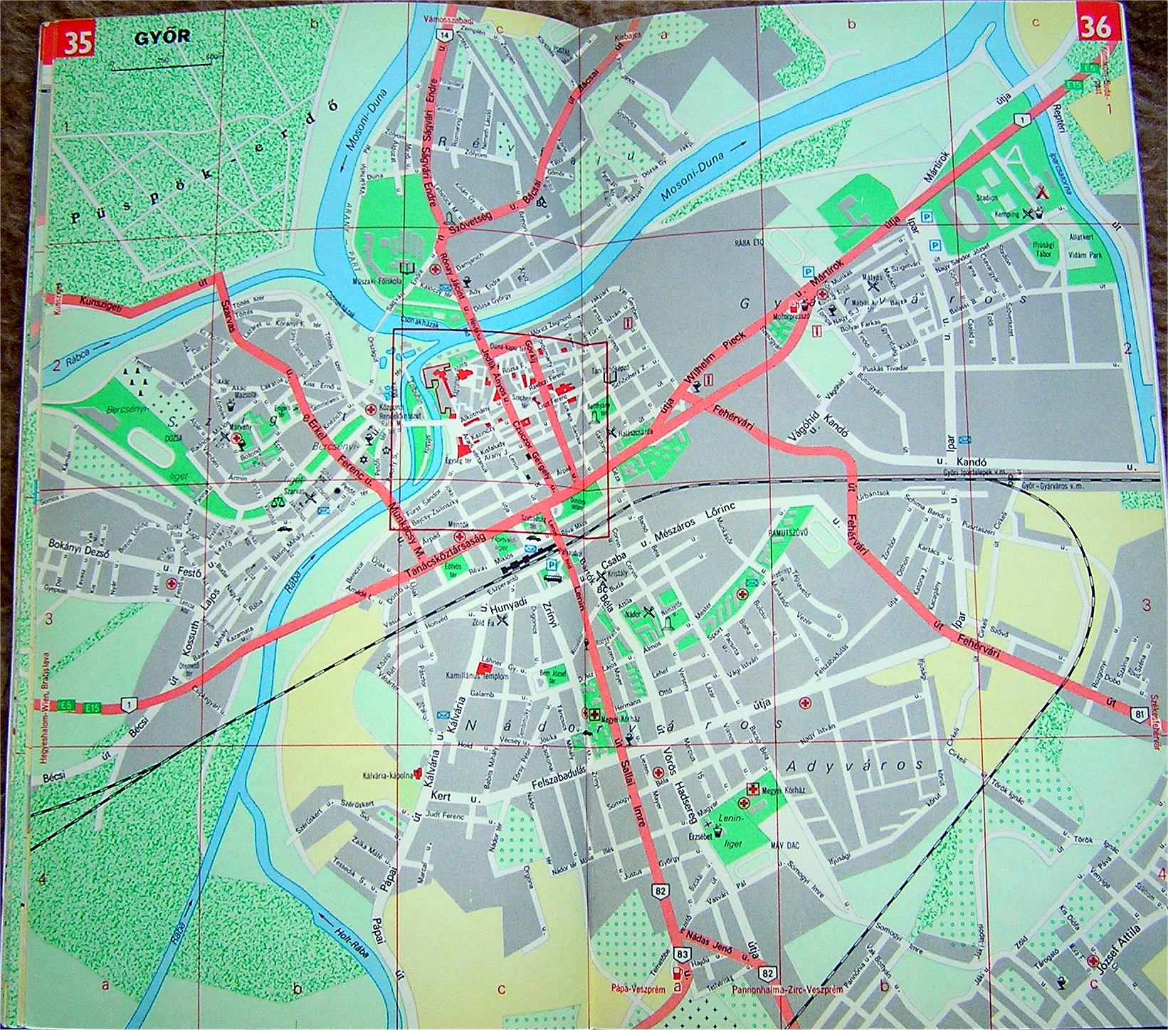 győr térkép Győr: Győr térkép (kép)