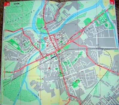 Győr térkép