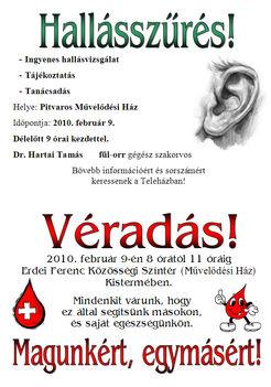Hallásvizsgálat és véradás 2010 feb 9