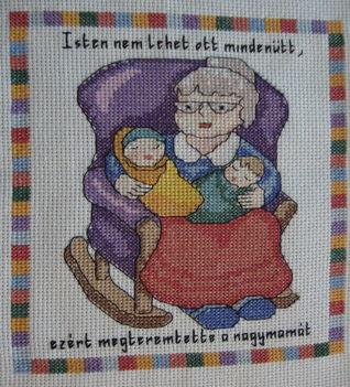 Anyáknapi - nagyi - ( x szemes hímzés )