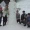 A hóember építők csapata