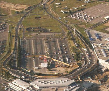 A repterünk építkezéssel a közepén