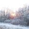 A település körgátja télen.