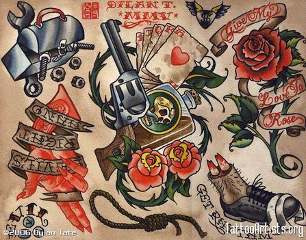 stingers tattoo old school 3