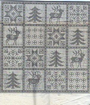 karácsonyi terítő minta