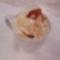 poharas vaníliakrém, mandulapehellyel