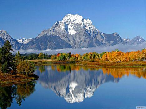 Mount Moran ősszel, Grand Teton Nemzeti Park, Wyoming, USA