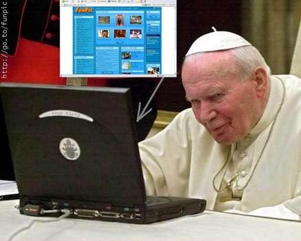 A pápa és a technika
