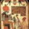 Sírsztélé - Hórusz istennel