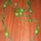 zöld robbantottköves csomózott nyaklánc