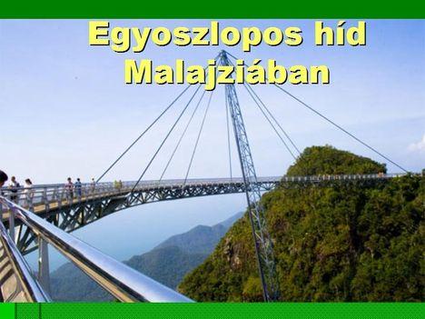 Egyoszlopos híd Malajziában  1