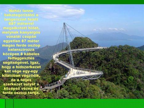 Egyoszlopos híd Malajziában  2