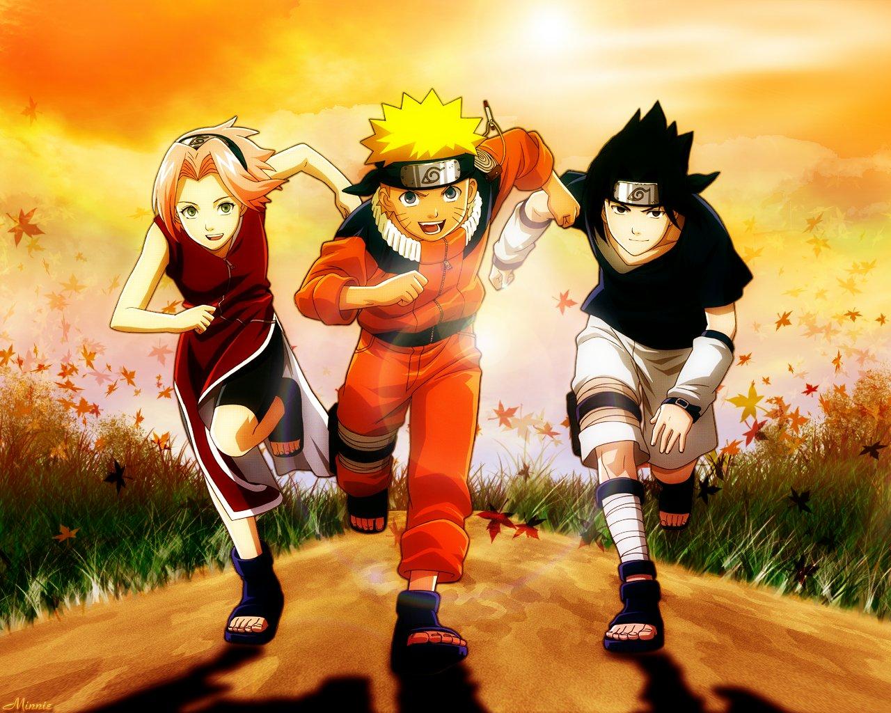 Naruto Sakura Sasuke Gambar Seni