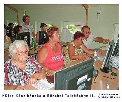 Digitális írástudás tanfolyam a Röszkei Teleházban