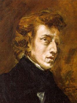 Frédéric Chopin - Delacroix festményén.