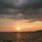 Sötét felhők, a Balaton felett.