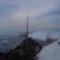 Balaton, a mólón, jégtorlasz.