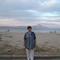 háttérben a naplemente rózsaszínűre festette az Athost