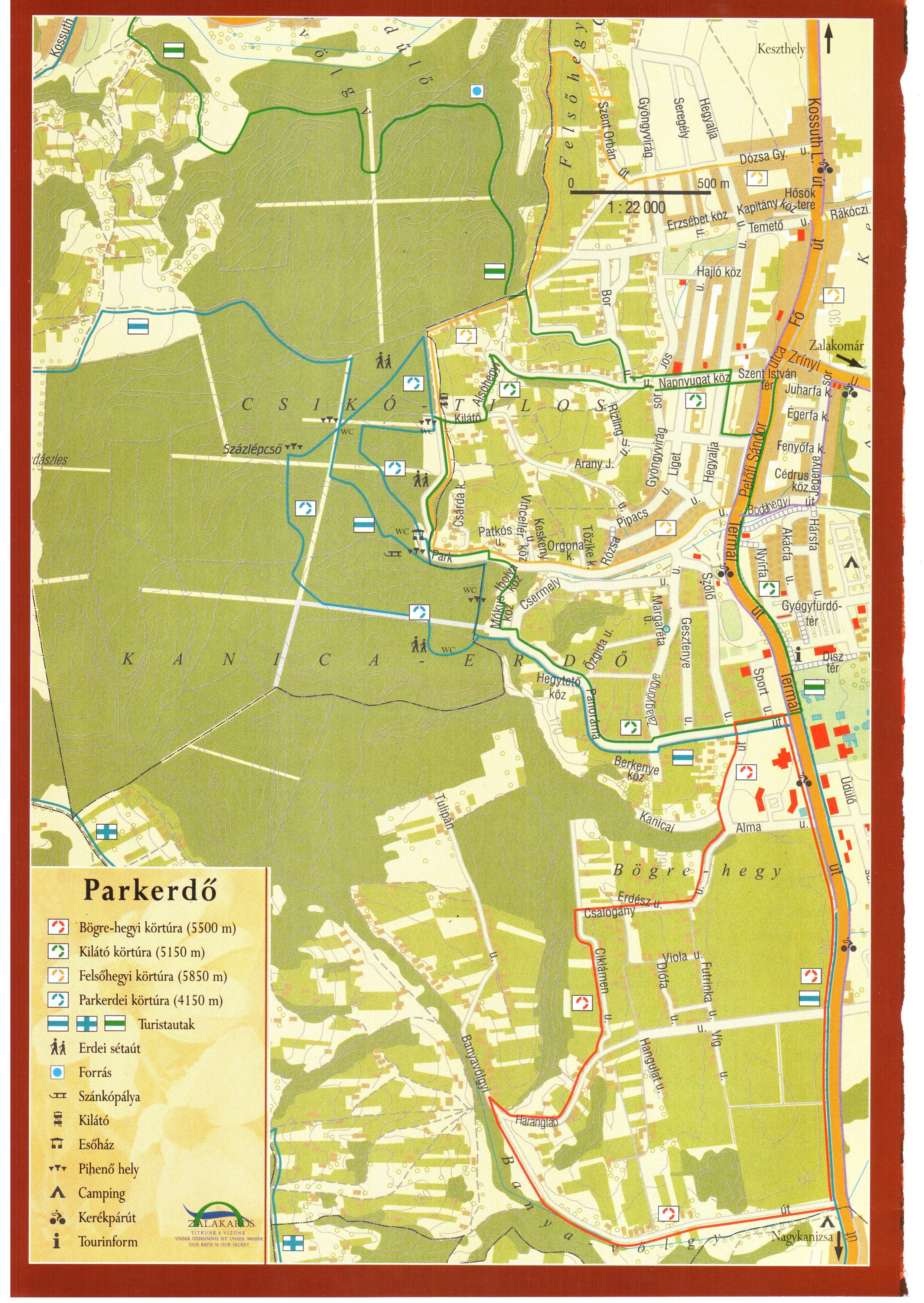 zalakaros térkép Térkép: Zalakaros (kép) zalakaros térkép