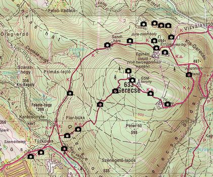 gerecse térkép