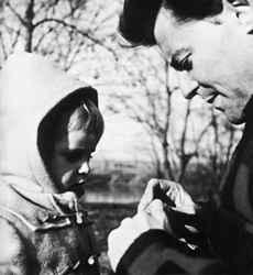 G.P. az apa, Anne-Marie nevű kislányával, egykoron...