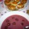 zöldséges-húsos muffin meggyszósszal