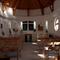 A kápolna  belső tere.
