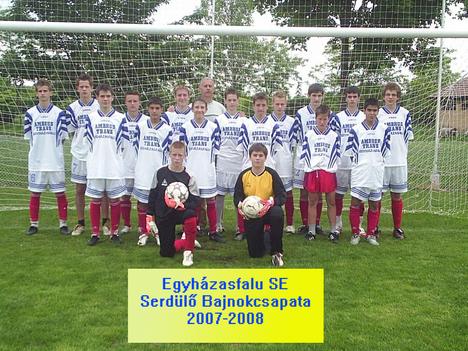 Egyházasfalu SE serdülő bajnokcsapata 2007-2008