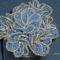kék ezüst bokréta