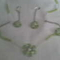 Zöld lánc+fülbevalló