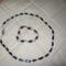 30 szivárványos cs8iszolt üveggyöngyből készült nyaklánc és préselt üveggyöngy karkötő