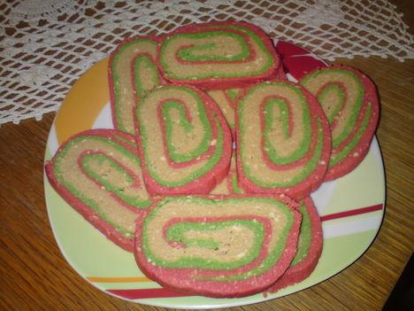 Háromszinű kekszes