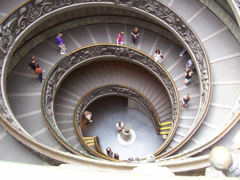 Vatikáni Múzeum, kijárati lépcső