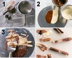 Csokispirál és csokiforgács készítése: