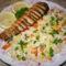 hal zöldséges rizzsel