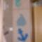 Sablonokból dekoráció,fürdőbe...
