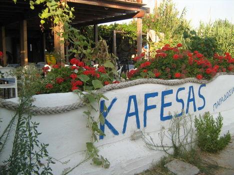 A Kafesas Taverna utcafront felől, Agios Georgios