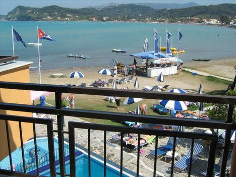 Beach az Akti Aphrodité Hotelből fotózva, Sidari