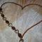 bronz szélű ametiszt csepp és kristály szív nyaklánc