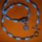 Egyszerű kék-ezüst lánc medállal