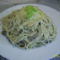 Tejfölös , zöldséges spagetti