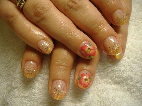akril virággal