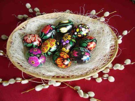 gyönyörű húsvéti tojások