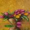 Tulipanos csendelet 3, 30x40cm,olaj,farost