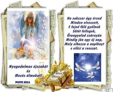 150215  JÓ éjt  BIBLIÁVAL  angyalos vers SZ