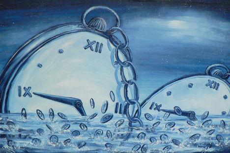 Az idő pénz, 60x40cm,olaj,farost