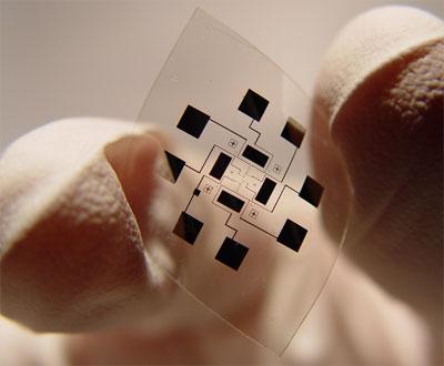Nanohálós hajlítható érzékelő