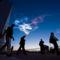 A hajtónyag elégetése után visszamaradt, főleg vízjég kristályokból álló felhőalakzat (NASA)