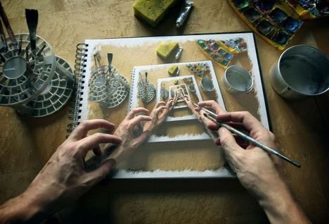 Festet kép a képben