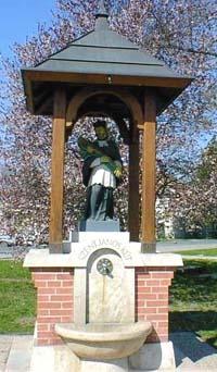 Nepomuki Szent János szobra,díszkút